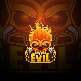 Evil esport maskottchen-logo-design