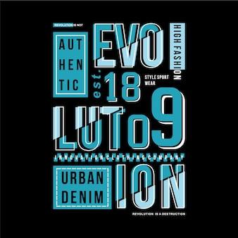Evolution textrahmen grafik typografie illustration