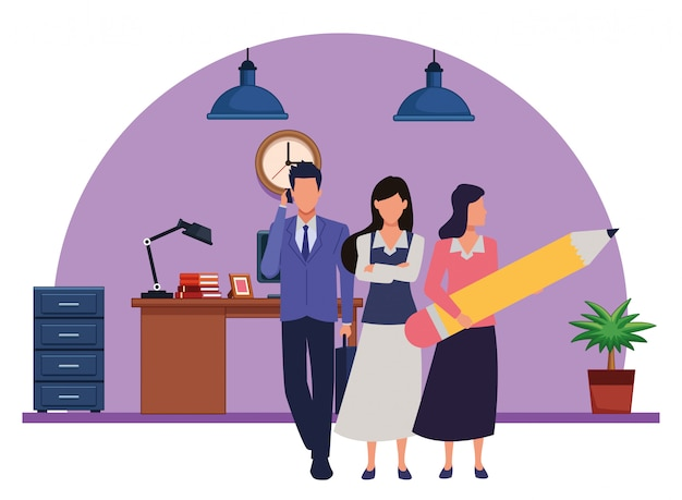 Executive business arbeiter mit werkzeugen