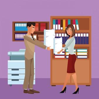 Executive business mitarbeiter