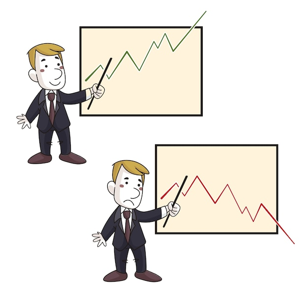 Exekutive mit positivem und negativem diagramm