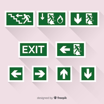 Exit-zeichen-sammlung