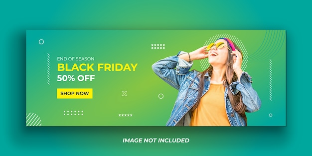 Exklusive black friday social media facebook cover vorlage