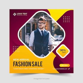 Exklusive kollektion fashion sale social media banner-vorlage und instagram-post-banner-design