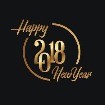 Exklusiver neujahrsgruß 2018