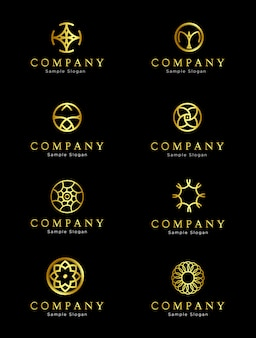 Exklusives golden circle logo design