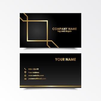 Exklusives visitenkarten-design