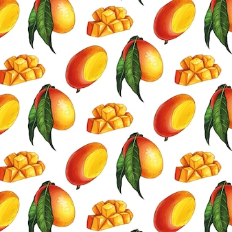 Exotische mango nahtlose muster.