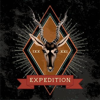Expeditions-reise-logo-design-vektor
