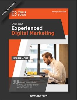 Experte für digitales marketing-plakatdesign