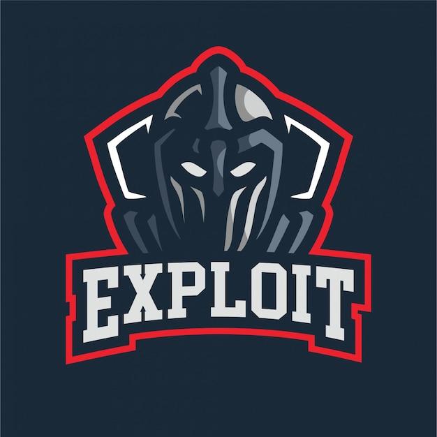 Exploit ritter maskottchen gaming-logo