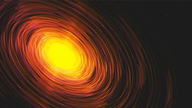 Exploration interstellar auf galaxy background.planet und physik konzeptdesign.