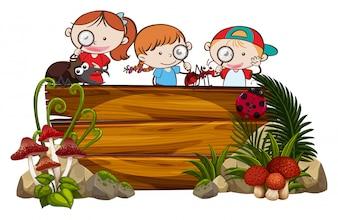 Exploring Kids und Holzbrett