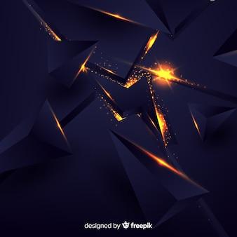 Explosion 3d mit hellem hintergrund