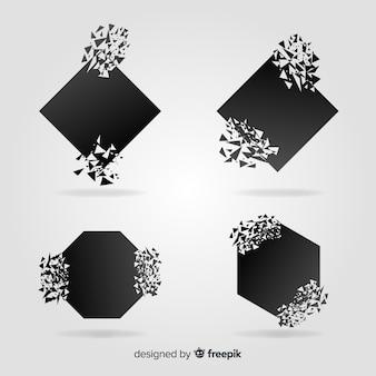 Explosion-banner-sammlung