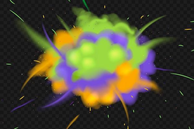 Explosion holi festival