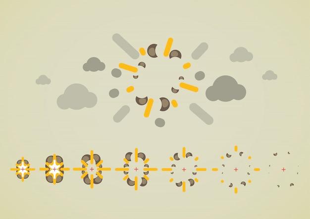 Explosion in der luft für videospiele