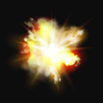Explosion von feuer flammenexplosion explosion von bombeneffekt