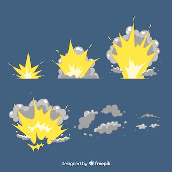 Explosionseffekt sammlung cartoon-design