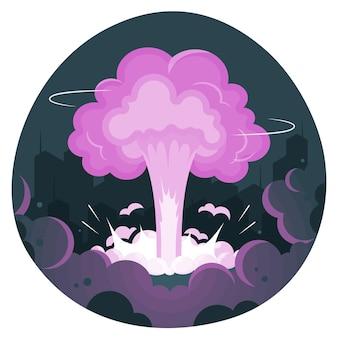 Explosionskonzeptillustration
