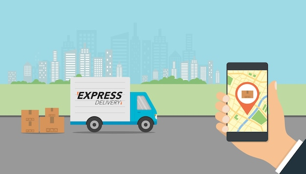 Express-lieferungskonzept