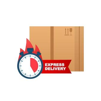 Expressversand-symbol für apps und websites. lieferkonzept.