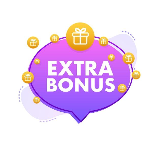 Extra-bonus für werbeaktionsdesign überraschungsbanner rabattbanner-werbeaktionsvorlage
