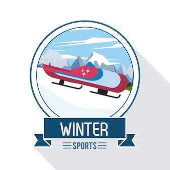 Extreme sportillustration des winters