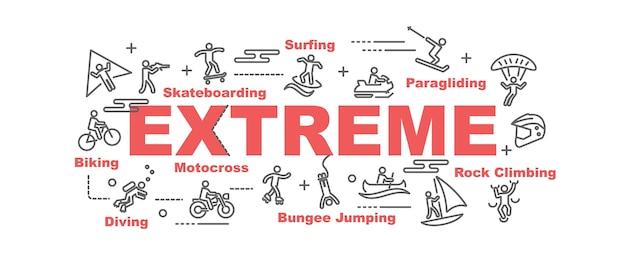 Extreme vektor-banner