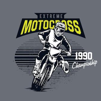 Extremer motocross