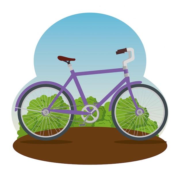 Extremes fahrradtransportfahrzeug zum trainieren