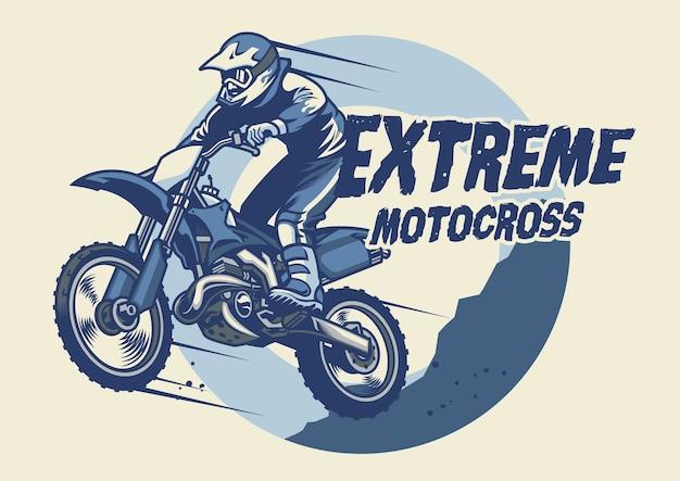 Extremes motocross-abzeichen-design