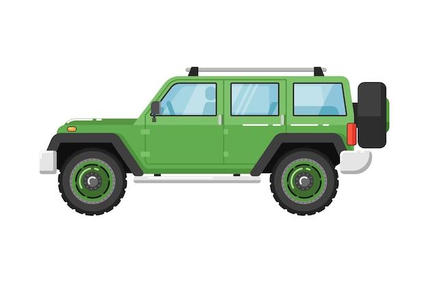 Extremes reiseauto lokalisierte illustration