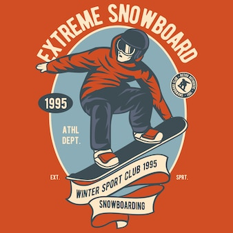 Extremes snowboarden