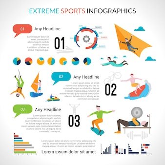 Extremsport infographics
