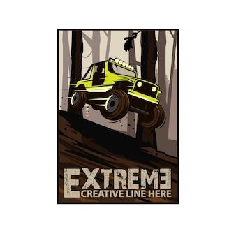 Extremsport, springe auf den hügel