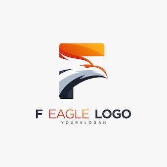 F eagle icon hawk falcon