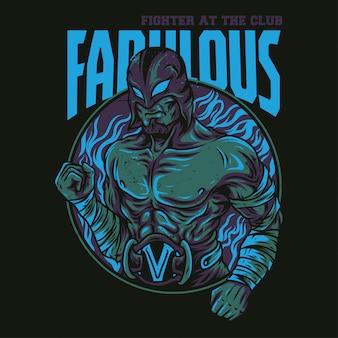 Fabelhafte kämpfer-illustration