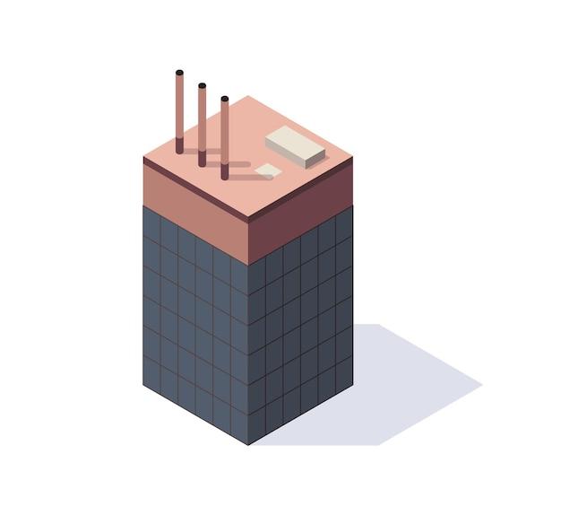 Fabrik isometrisch