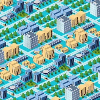 Fabriken, lagerhäuser und bürogebäude in städtischen gebieten von großstädten