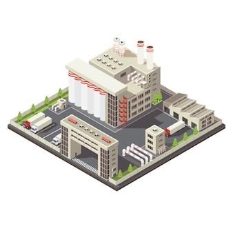 Fabrikgebiet isometrisch