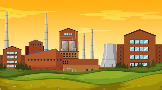 Fabrikgeländeszene