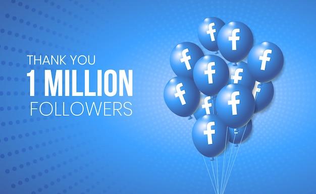 Facebook 3d ballonsammlung für banner und meilenstein leistung präsentation