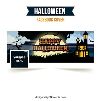 Facebook-abdeckung mit halloween-schloss