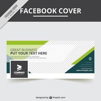 Facebook-abdeckung schablone im abstrakten stil