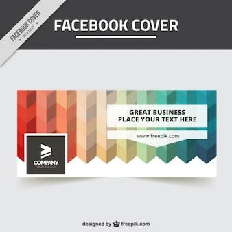 Facebook abdeckung von farbigen formen in flacher bauform
