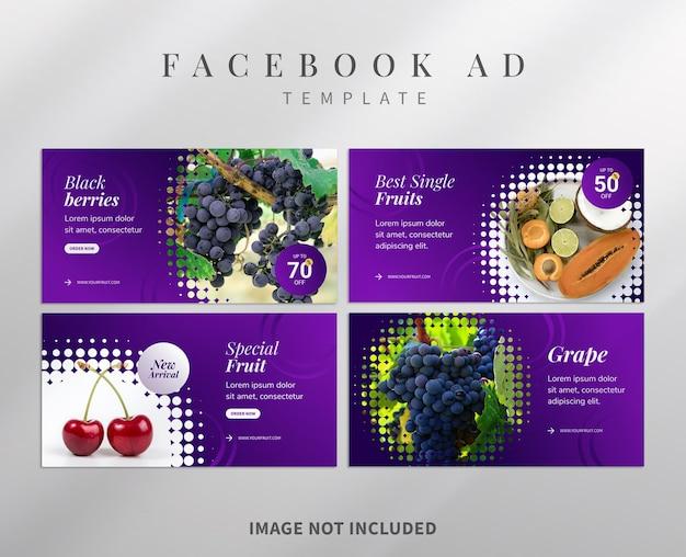 Facebook-adwords-vorlage für gesunde früchte