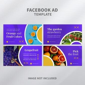 Facebook-anzeigenvorlage für gesunde früchte