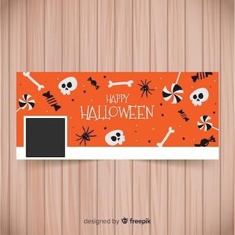 Facebook-banner mit halloween-elementen