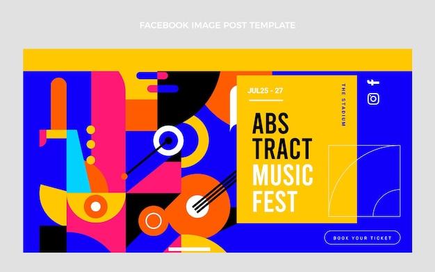 Facebook-beitrag zum flat music festival
